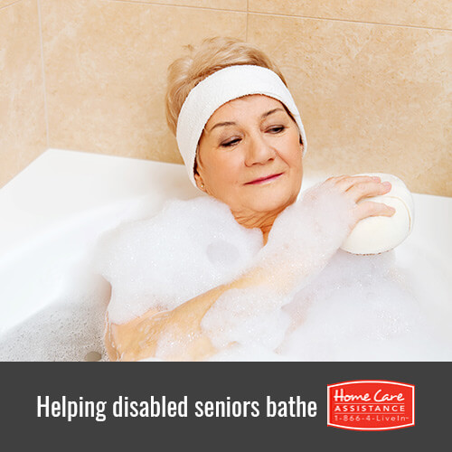 Helping Seniors with Disabilities During Bath Time in Rhode Island