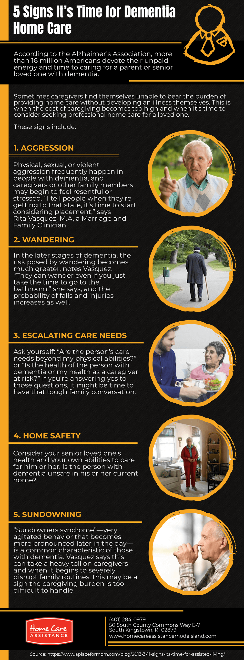 5 Signs It's Time for Dementia Home Care [Infographic]
